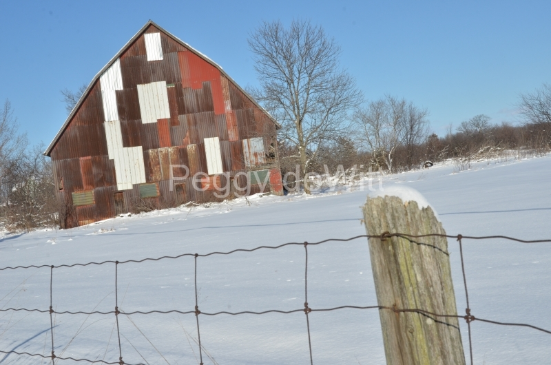 Barn Cherry Valley Winter #3060