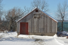 Barn Red Door Winter #3073