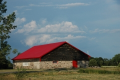 Barn Red Roof East Lake #2916