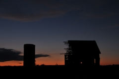 Barn Silo Sunset #2855