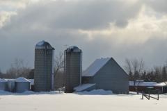 Barn West Lake Winter #3083