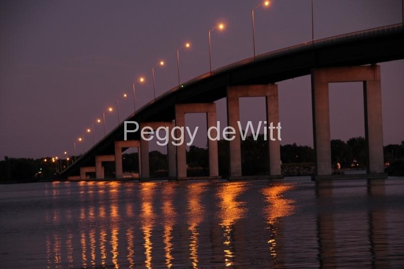 Belleville Bridge Sunset Reflection #1688 8x12