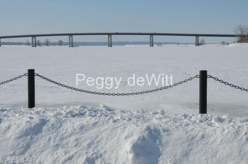 Belleville Chain Fence Winter #2782