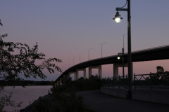 Belleville Bridge Sunset Lamp #1687