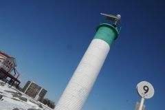 Belleville Lighthouse Closeup Winter #2793