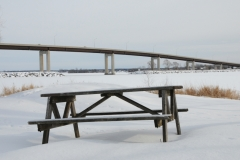Belleville Picnic Table Closeup Winter #2796