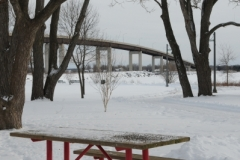 Belleville Picnic Table Red Winter (v) #2798