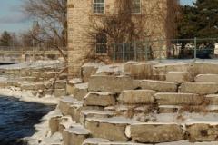Belleville Stone Building Winter (v) #2800