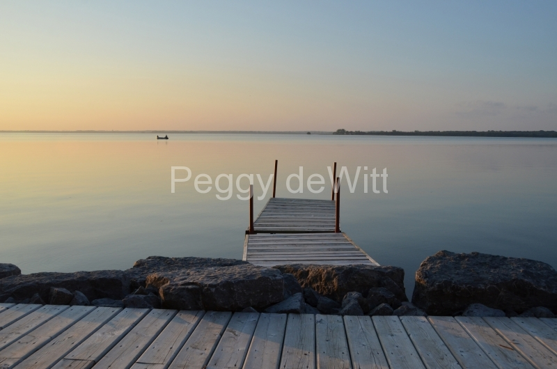 Big Island Dock Sunset Donna #3132