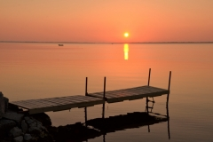 Big Island Dock Red Sunset #3176