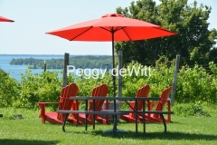 Chairs Red Waupoos Cider Co #3160