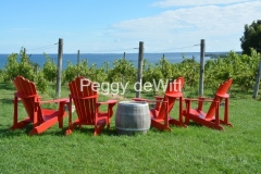 Waupoos Chairs Red Cider Co View  #3543