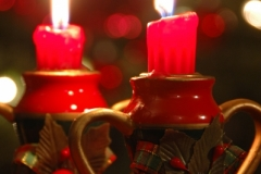 Christmas Candles Closeup (v) #2883