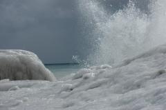 Cobourg Beach Splash Winter #1342