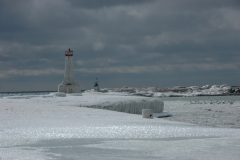 Cobourg Lighthouse Winter #1343