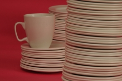 Dishes Cup Saucers Pink #2365