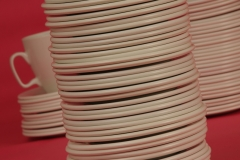 Dishes Saucers Pink #2369