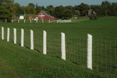 Barn White Fence #1805