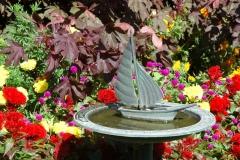 Flowers Birdbath Boat #3210