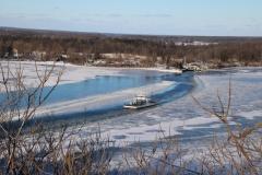 Glenora Ferry Ice Winter #3256