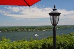 Glenora Ferry Red Umbrella #3258