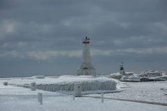 Lighthouse Cobourg Sky Winter #1344
