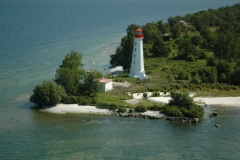 Lighthouse Main Duck Island Aerial #676