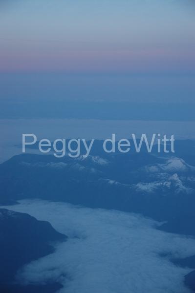Mountain Aerial Sunrise (v) #1273