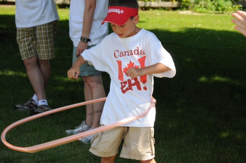 Canada Day Hula Hoop Boy #1992