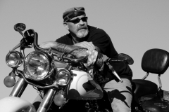 Motorcycle Biker Harley b&w #2040