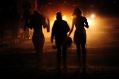 People Walking Headlights Belleville #2594