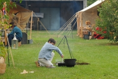 Pioneer Days Boy Cooking #2045