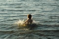 Sandbanks Boy Splashing #1578