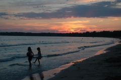 Sandbanks Sunset Girls #1582