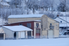 Picton Bay Boathouses Winter #2194 a