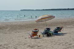 Sandbanks Chairs Three Umbrella #3604