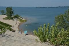 Sandbanks Dunes Blue Umbrella #3331