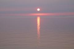 Sandbanks Sunset Globe Pink #3617