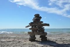 Sandbanks West Pt Inukshuk #3390