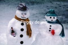 Snowmen Canadian #274 8x12