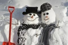 Snowmen-Couple-Red-Shovel-3834