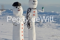 Snowmen Couple Wellington (v) #3512