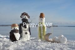 Snowmen Familly Toboggan #3498