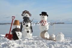 Snowmen Family Sled Shovel #3511