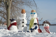 Snowmen Family Waupoos #3499