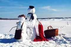 Snowmen Picnic Basket #173