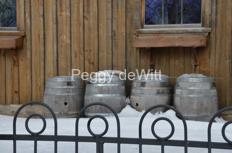 Winery Barrels Winter #3525