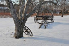 Apple Orchard Wagon Wheel Winter #2904