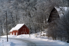 Barn Red Icy Waupoos Winter #413 8x12