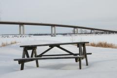 Belleville Picnic Table Closeup Winter #2796